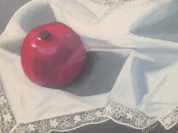 Still Life with Pomegranate (2016) Pastel on wallis paper.