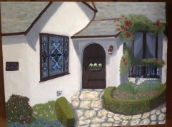 La Casa del Obispo (2016) In oils. In the collection of Mr and Mrs FJ Gorry