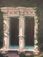 Detail of window on Casita painting