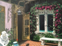 Casita Courtyard, Hearst Castle (2017) In oils. In the collection of Dr and Mrs J Pittard.
